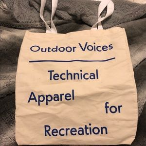 Outdoor voices tote. Never used.